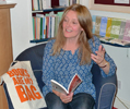 poetry reading at Atkinson Pryce Bookshop, Biggar, 2013